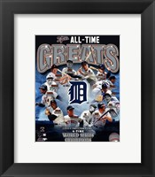 Framed Detroit Tigers All Time Greats Composite