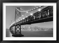 Framed Bay Bridge At Night