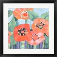 Framed Poppin Poppies II