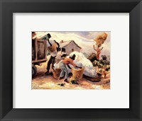 Framed Cotton Pickers