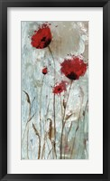 Framed Splash Poppies II