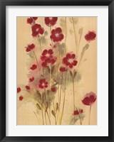 Framed Crimson Elegance