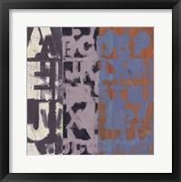 Framed Alphabet Overlay I