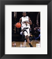 Framed Chris Paul Wake Forest University Demon Deacons 2004 Action