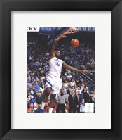 Framed DeMarcus Cousins University of Kentucky Wildcats 2010 Action