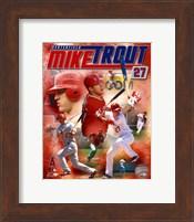 Framed Mike Trout 2012 Portrait Plus