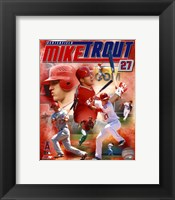 Framed Mike Trout 2012 Portrait Plus