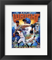 Framed David Wright 2012 Portrait Plus