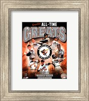 Framed Baltimore Orioles All-Time Greats