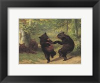 Framed Dancing Bears