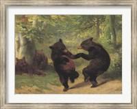 Framed Dancing Bears