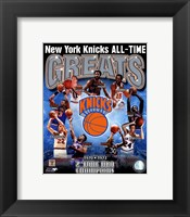 Framed New York Knicks - All-Time Greats Composite