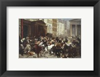 Framed Wall Street: Bulls & Bears