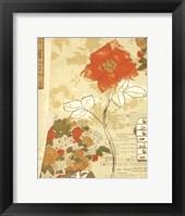 Framed Collaged Botanicals I