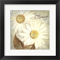 Framed Daisy Do IV - Give Blessings