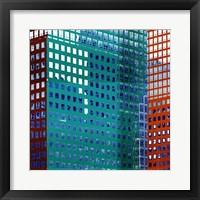 Framed Bright City I