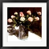 Framed Classic Flowers III