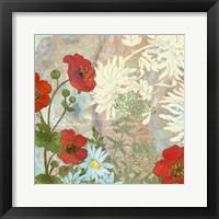 Framed Summer Poppies I