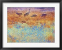 Framed Cranes in Soft Mist