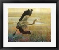 Foggy Heron I Framed Print
