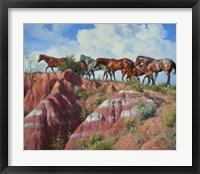 Framed Colored Clay & Quarterhorse