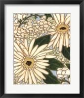 Framed White Flower Spray I
