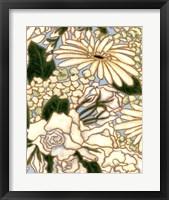 Framed White Flower Spray II
