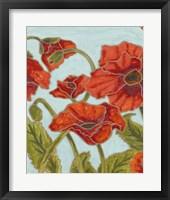Poppy Talk I Framed Print
