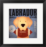 Framed Labrador Ball Club