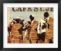 Framed Cafe St. Jean