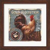 Framed Gold Rooster