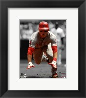 Framed Mike Trout 2012 Spotlight Action
