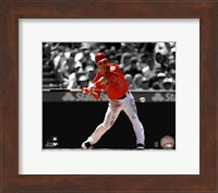 Framed Mike Trout 2012