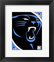 Framed Carolina Panthers 2012 Team Logo