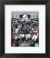 Framed Philadelphia Eagles 2012 Team Composite