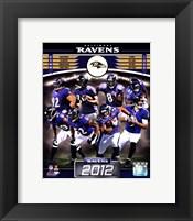 Framed Baltimore Ravens 2012 Team Composite