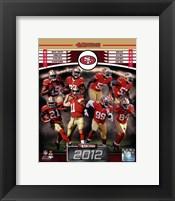 Framed San Francisco 49ers 2012 Team Composite