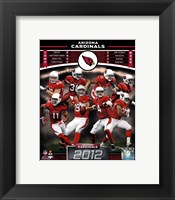 Framed Arizona Cardinals 2012 Team Composite