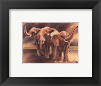 Framed Family of Elephants