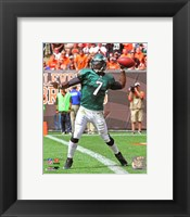 Framed Michael Vick Passing The Football