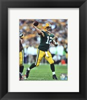 Framed Aaron Rodgers 2012 football