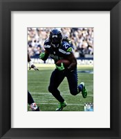 Framed Marshawn Lynch 2012 with the ball