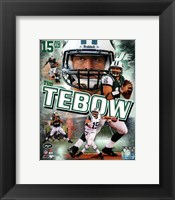 Framed Tim Tebow 2012 Portrait Plus