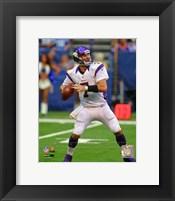 Framed Christian Ponder 2012 football