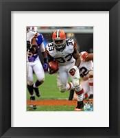 Framed Trent Richardson On The Football Field