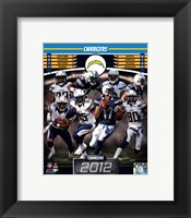 Framed San Diego Chargers 2012 Team Composite