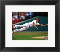 Framed David Freese 2012 Action