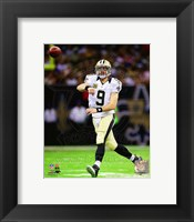 Framed Drew Brees On Football Field