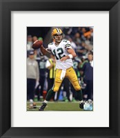 Framed Aaron Rodgers 2012 Action shot