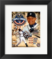 Framed Miguel Cabrera MLB Triple Crown Winner PF Gold Composite